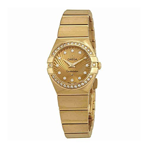 Omega Constellation 18kt Yellow Gold Ladies Watch 123.55.24.60.58.001 -- Read mo...