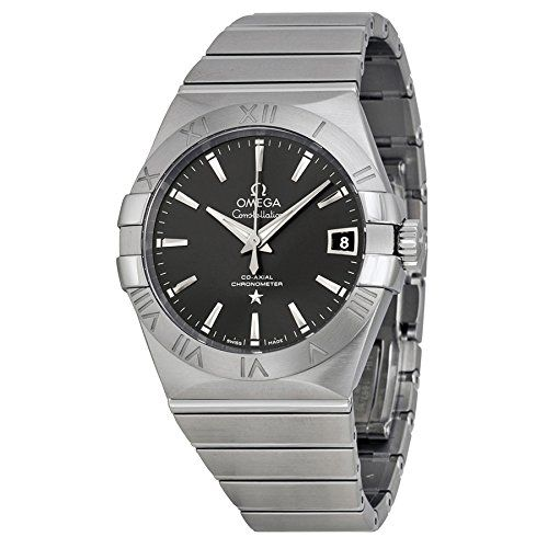 Omega Constellation Automatic Co-Axial Dark Grey Dial Stainless Steel Unisex Wat...