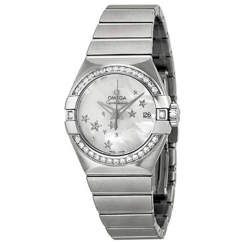 Omega Constellation Automatic Diamond Mother of Pearl Dial Ladies Watch 123.15.2...
