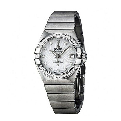 Omega Constellation Automatic Diamond Mother of Pearl Dial Ladies Watch 12315272...
