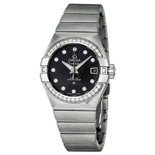 Omega Constellation Black Dial Stainless Steel Ladies Watch 123.15.27.20.51.001 ...