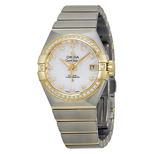 Omega Constellation Chronomete Automatic Mother of Pearl Dial Stainless Steel La...