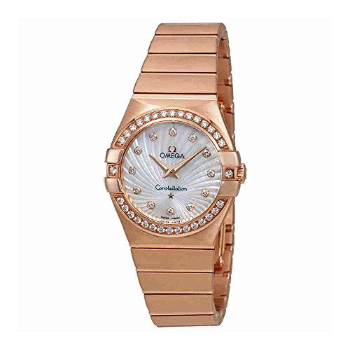Omega Constellation Mother of Pearl Dial Ladies Watch 123.55.27.60.55.001 -- You...
