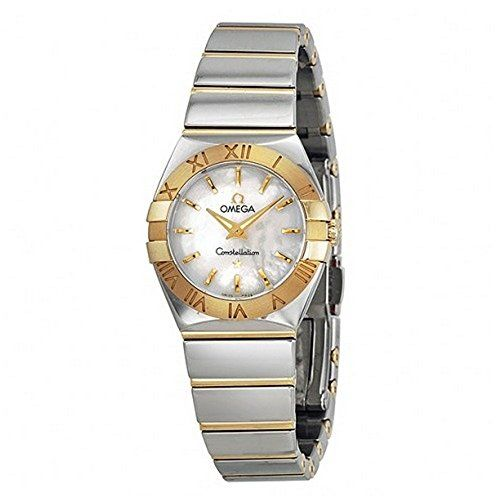 Omega Constellation Mother of Pearl Dial Stainless Steel and Gold Ladies Watch 1...