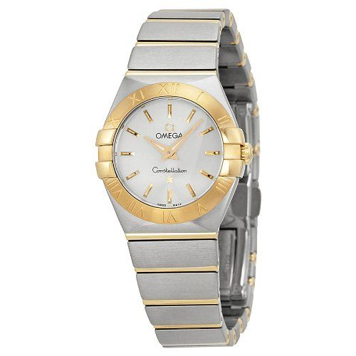 Omega Constellation Silver Dial Stainless Steel and Gold Ladies Watch 123.20.24....