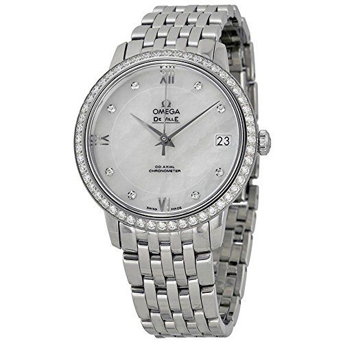 Omega De Ville Mother of Pearl Dial Diamond Stainless Steel Ladies Watch 4241533...