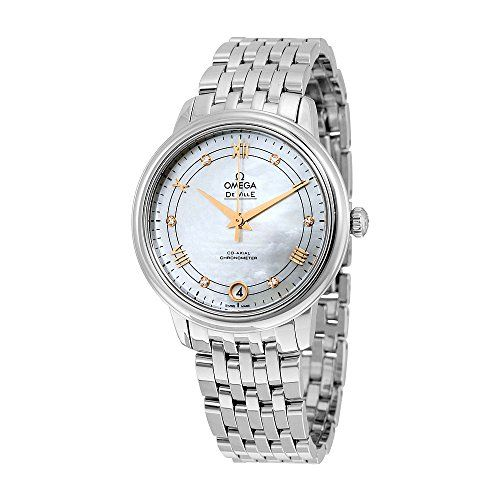 Omega De Ville Mother of Pearl Diamond Stainless Steel Ladies Watch 424.10.33.20...