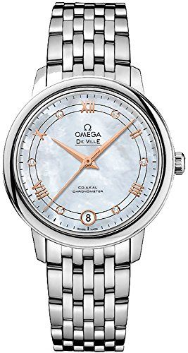 Omega De Ville Mother of Pearl Diamond Stainless Steel Ladies Watch 424103320550...