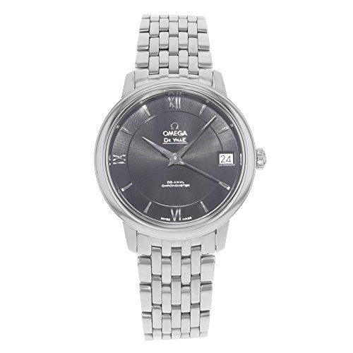 Omega De Ville Prestige Automatic Black Dial Stainless Steel Ladies Watch 424103...