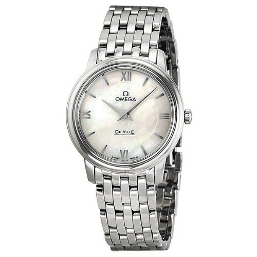 Omega De Ville Prestige Mother of Pearl Dial Stainless Steel Ladies Watch 424.10...