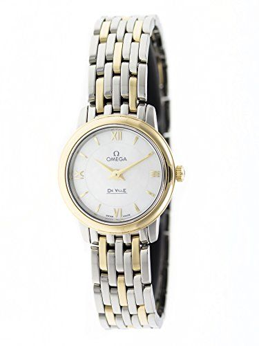 Omega De Ville Prestige Mother of Pearl Dial Stainless Steel and 18kt Yellow Gol...