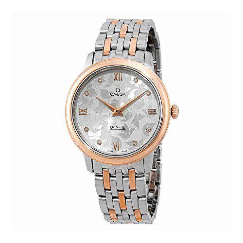 Omega De Ville Prestige Silver Diamond Dial Ladies Watch 42420336052001 *** For ...