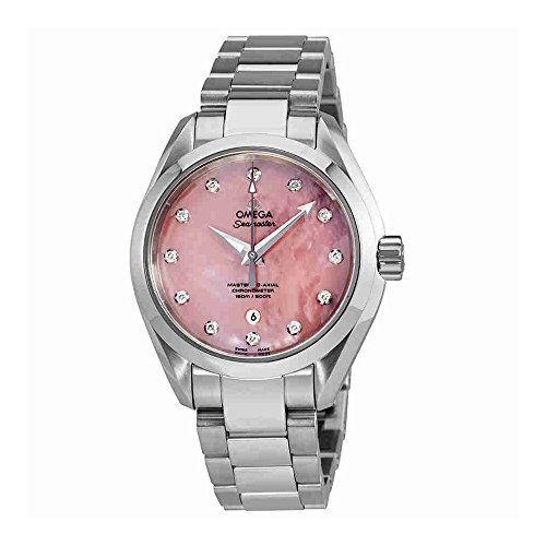 Omega Seamaster Aqua Terra Pink Mother Of Pearl Dial Ladies Watch 231.10.34.20.5...