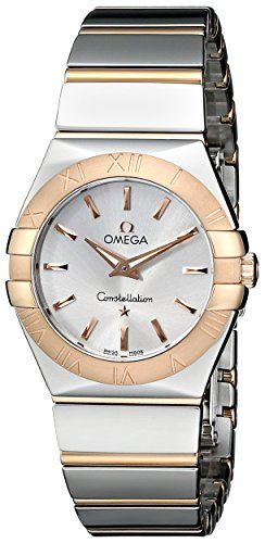 Omega Womens 12320276002003 Constellation Polished Analog Display Quartz SilverT...