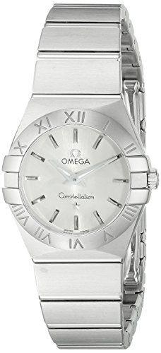 Omega Women's 12310246002001 Constellation Analog Display Swiss Quartz Silve...