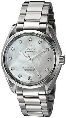 Omega Women's 'Aqua Terra' Swiss Quartz Stainless Steel Dress Watch, Color:Silve...
