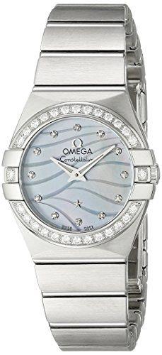 Omega Women's Constellation Analog Display Swiss Quartz Silver Watch 1231524...