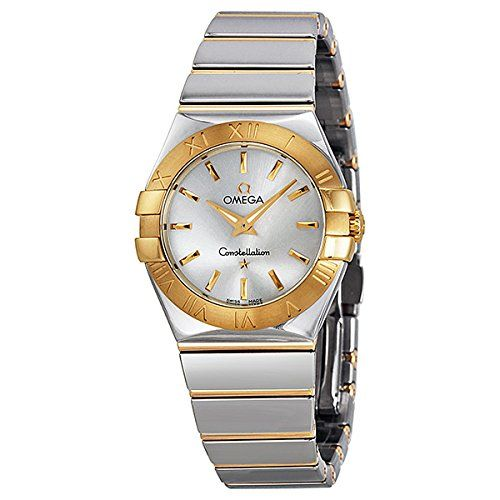 Omega Women's Constellation Analog Display Swiss Quartz Two Tone Watch 123202760...