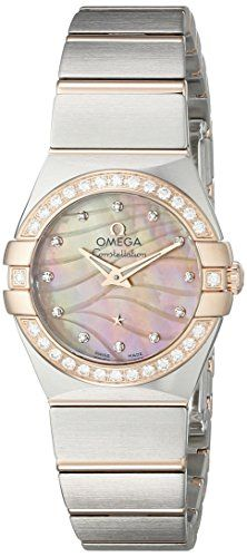 Omega Women's Constellation Silver-Tone Stainless Steel Watch 12325246057002...