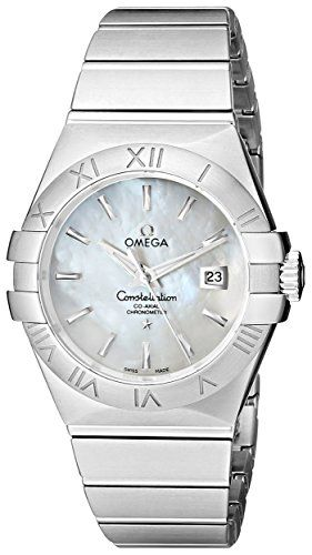 Omega Women's 123.10.31.20.05.001 Constellation White Mother-Of-Pearl Dial W...