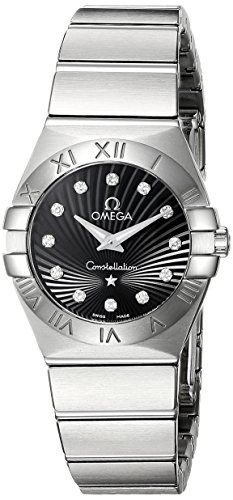Omega Womens 12310246051001 Constellation 09 Brushed Black Dial Watch -- See thi...