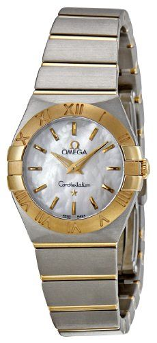 Omega Womens 12320246005002 Constellation MotherOfPearl Dial Watch -- See this g...
