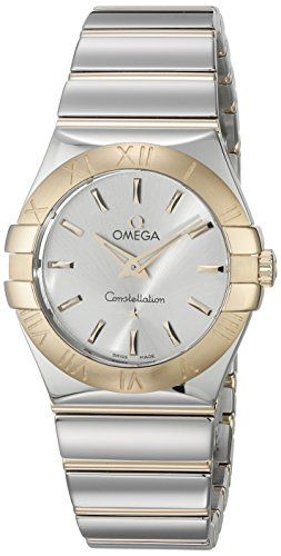 Omega Womens 12320276002004 Constellation Analog Display Swiss Quartz Two Tone W...