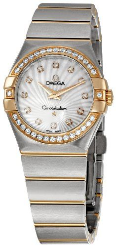 Omega Womens 12325276055002 Constellation Diamond Bezel Watch * To view further ...