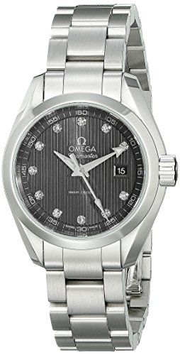 Omega Womens 23110306056001 Analog Display Swiss Quartz Silver Watch *** For mor...