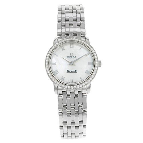 Omega Womens 41315276005001 De Ville Prestige QuartzDiamond Bezel Watch -- Be su...
