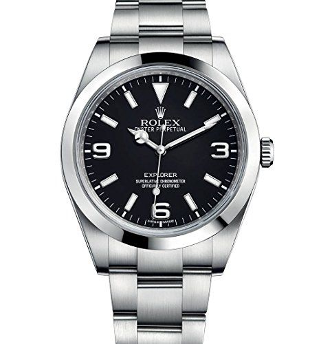 ROLEX EXPLORER 39MM STAINLESS STEEL WATCH BLACK DIAL 214270 UNWORN ** Details ca...