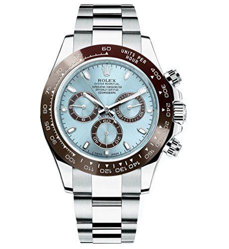 Rolex Cosmograph Daytona Ice Blue Dial Platinum Mens Watch 116506 -- Read more r...