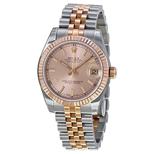 Rolex DateJust Oyster Perpetual Lady 31 Automatic Pink Rose Dial Stainless Steel...