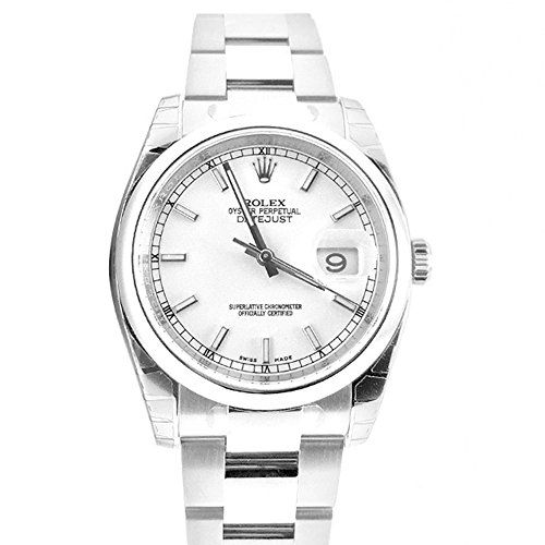 Rolex Datejust 36 White Index Dial Steel Oyster Watch 116200 -- See this great p...