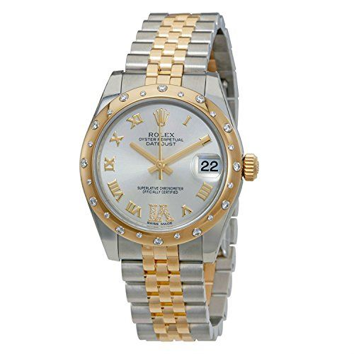 Rolex Datejust Automatic Silver Dial Ladies Watch 178343SRDJ ** You can get more...