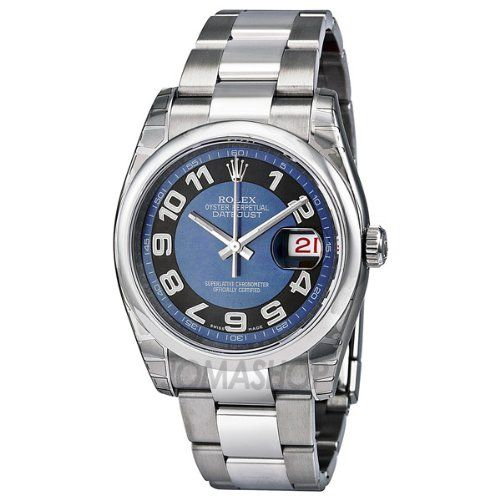Rolex Datejust Blue Dial Automatic Stainless Steel Ladies Watch 116200BLBKAO * Y...