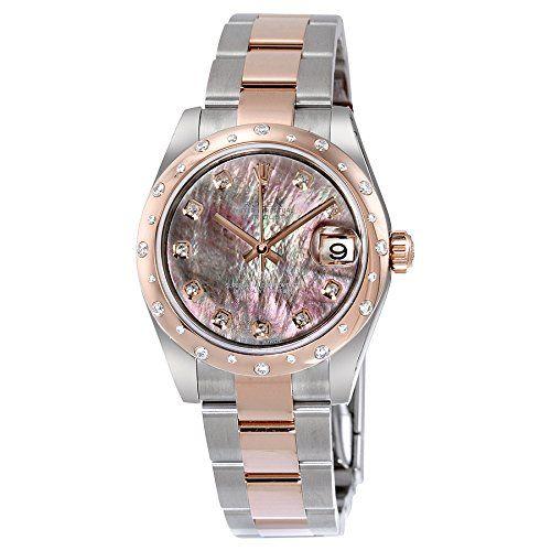 Rolex Datejust Lady 31 Chocolate Dial Diamond 18K Pink Gold Steel Ladies Watch 1...