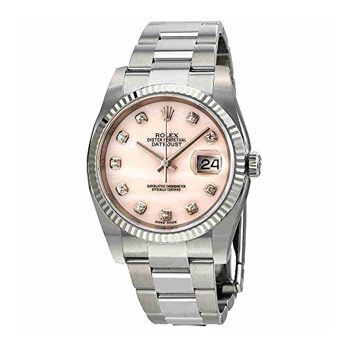 Rolex Datejust Pink Mother of Pearl Diamond Ladies Watch 116234PMDO ** To view f...