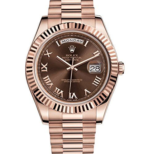 Rolex Day-Date II 41 President Everose Gold Watch Chocolate Dial 218235 ** You c...
