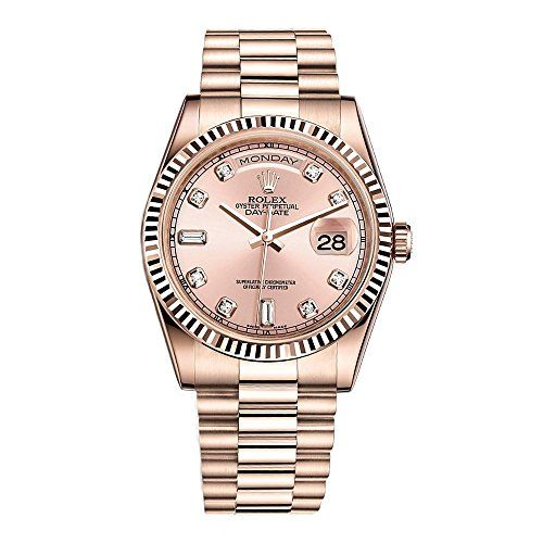 Rolex Day-Date President 36 Everose Gold Watch 118235 Diamond Dial 2016 ** You c...