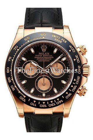 Rolex Daytona Pink Gold Strap Watch, Bronze Arabic Dial ** You can get additiona...