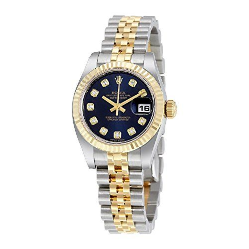 Rolex Lady Datejust 26 Blue Dial Stainless Steel and 18K Yellow Gold Rolex Jubil...