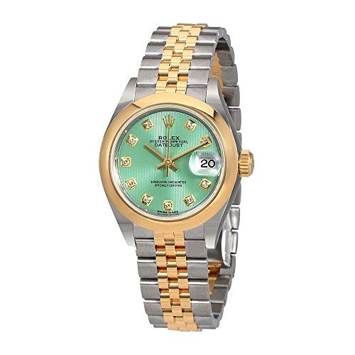 Rolex Lady Datejust 28 Mint Green Steel and 18kt Yellow Gold Jubilee Watch 27916...