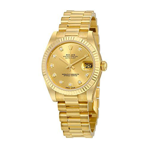 Rolex Lady-Datejust 31 Champagne Dial 18K Yellow Gold President Automatic Ladies...