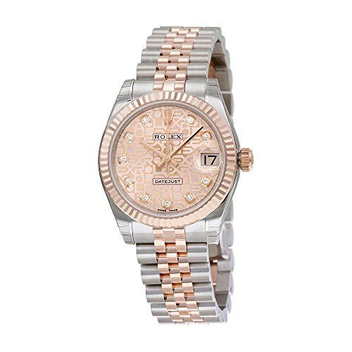 Rolex Lady Datejust Automatic Pink Jubilee Diamond Dial Steel and 18kt Everose G...