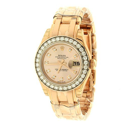Rolex Lady Datejust Champagne Dial 18K Pink Gold Automatic Watch 179175CRJ *** C...