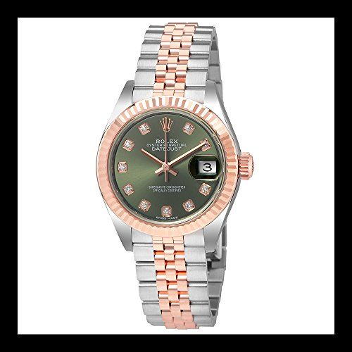 Rolex Lady Datejust Olive Dial Steel and 18K Everose Gold Ladies Watch 279171ODJ...