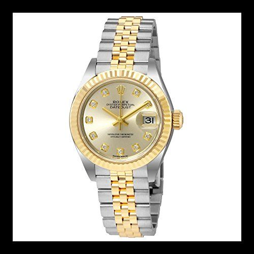 Rolex Lady Datejust Silver Dial Steel and 18K Yellow Gold Ladies Watch 279173 * ...