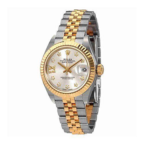 Rolex Lady-Datejust Silver Diamond Dial Automatic Ladies Watch 279173SDRJ -- Rea...