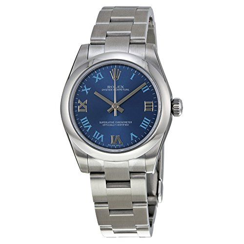 Rolex No Date Automatic Blue Dial Stainless Steel Ladies Watch 177200BLRO * This...